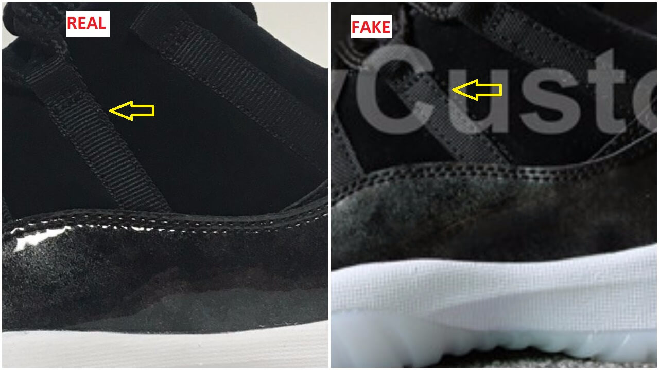 online retailer 9edd1 e1c5a ... vs Real How To Quickly Identify The Fake Air Jordan 11 Low Barons ...
