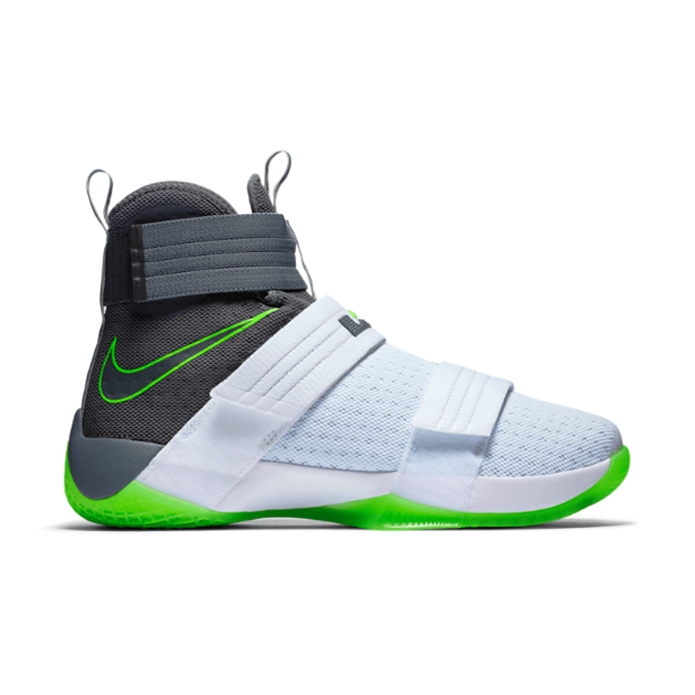 Nike Lebron Soldier X (Dunkman) White/Cool Grey-Electric Green