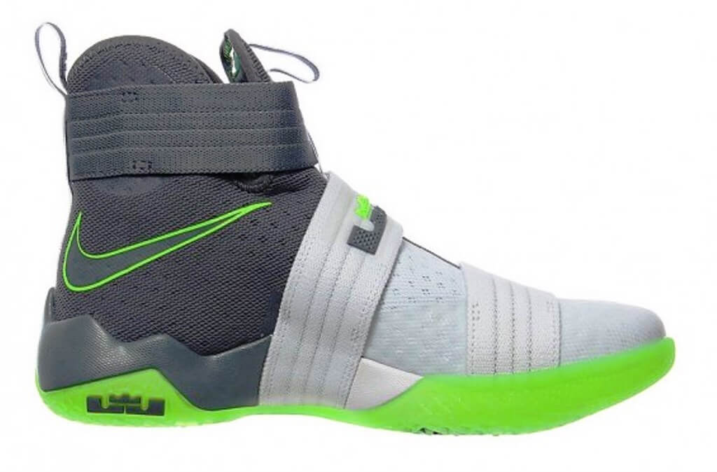 sports shoes 822a5 6260c ... 100% Authentic, brand new in the original box pair of the Lebron Soldier  X Chic Nike LeBron James Soldier X 10 Dunkman white grey green ...