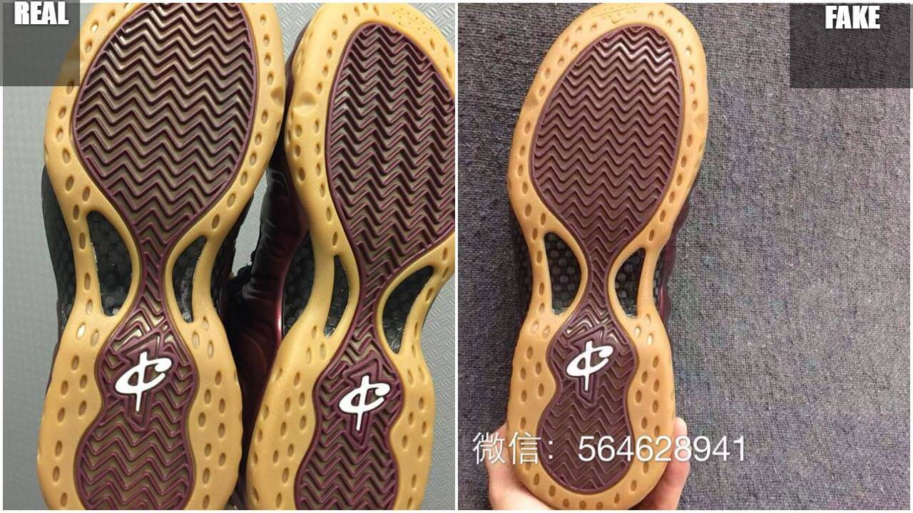 the latest afa0e d1964 Fake Air Foamposite One Maroon Gum : Tips to Avoid Them ...