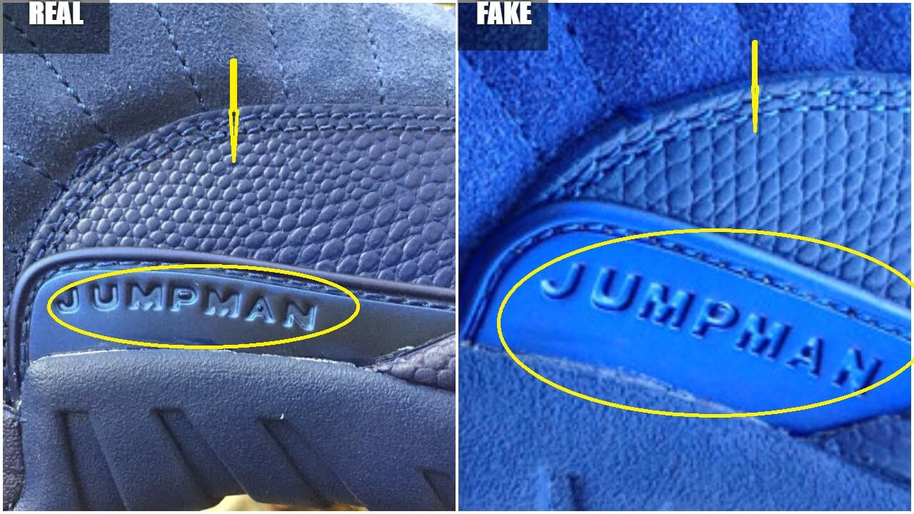 best service 939c6 bdab1 Beware Of These Fake Air Jordan 12 Suede Blue – ARCH-USA
