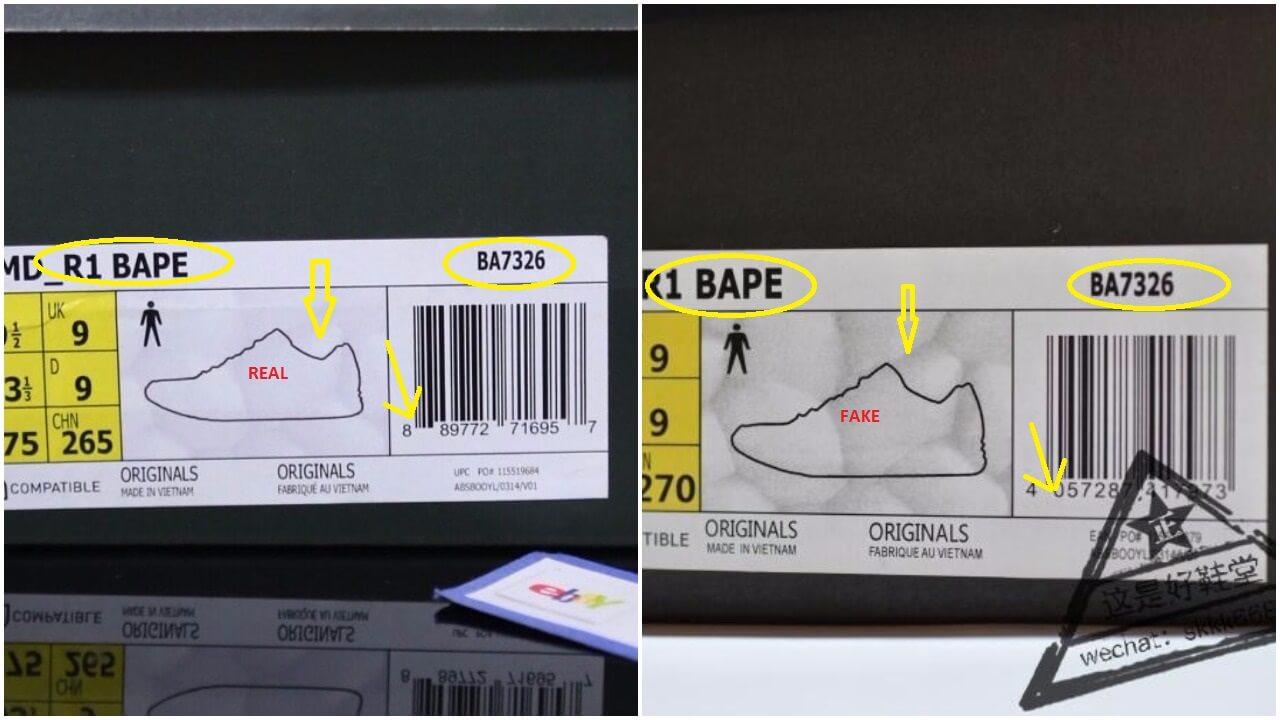 Real Vs Fake Bape Adidas Nmd R1 4 1 Arch Usa