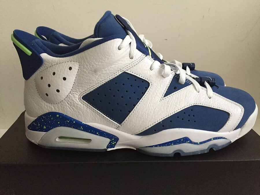 check out ec343 41a4f The Jordan 6 Low Seahawks 304401 106 Is On Sale For  119 – ARCH-USA