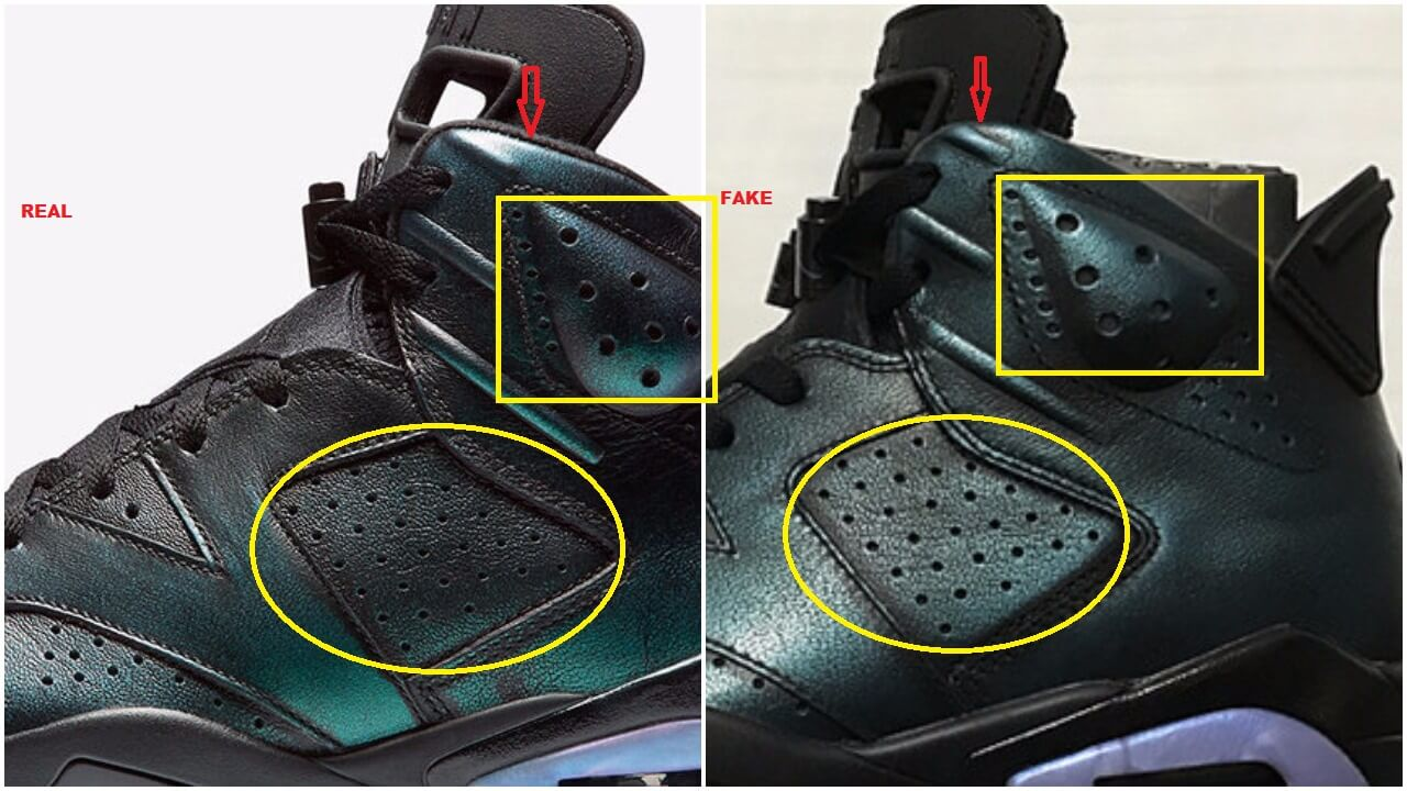 new concept 08858 f4cdb Watch Out For The Fake Air Jordan 6 All Star ASW Chameleon ...