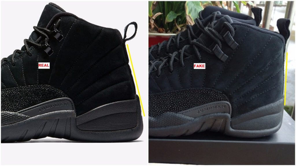 61170f2a61a168 How To Spot The Fake Black Air Jordan 12 OVO