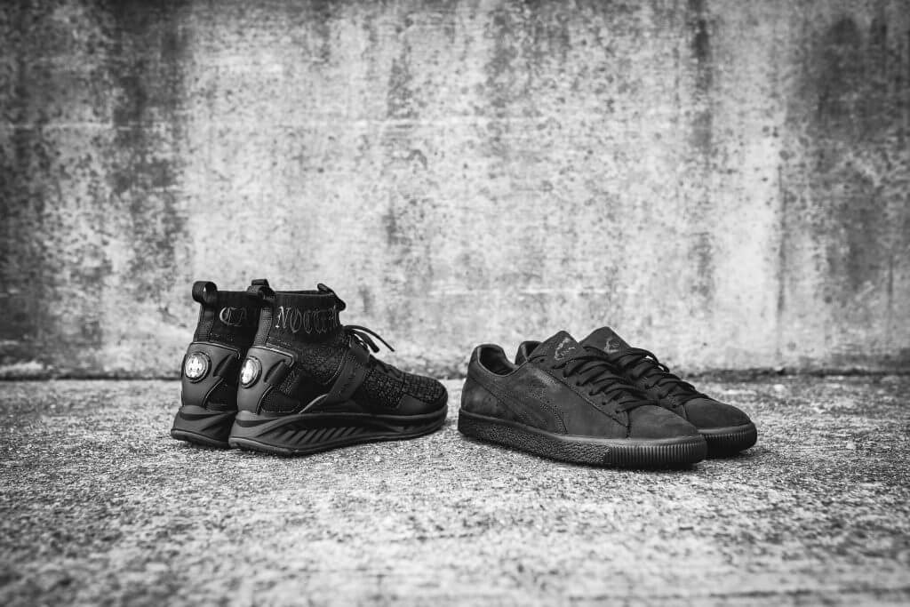 "6009c39032aa ARCH-USA. EN NOIR x Puma IGNITE evoKNIT   Clyde ""Carpe Noctum"" – PACKER  SHOES"