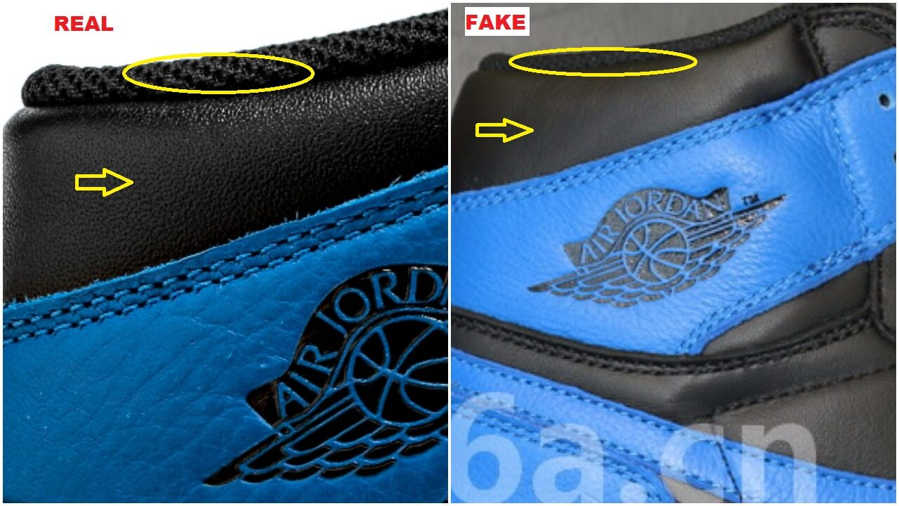 The Fake Air Jordan 1 Royal Comparison Has Been Updated
