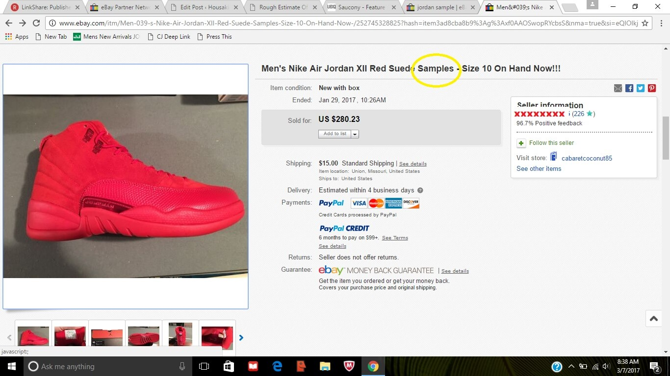 fake jordans on ebay