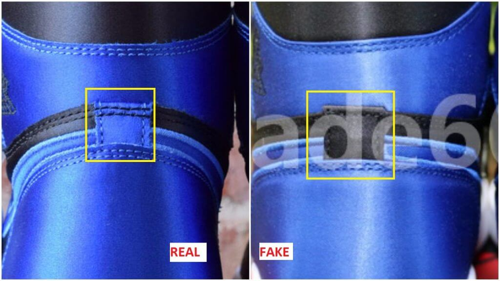 5f18d12af21e3e Fake Air Jordan 1 Royal Satin Spotted- Quick Tips To Avoid It