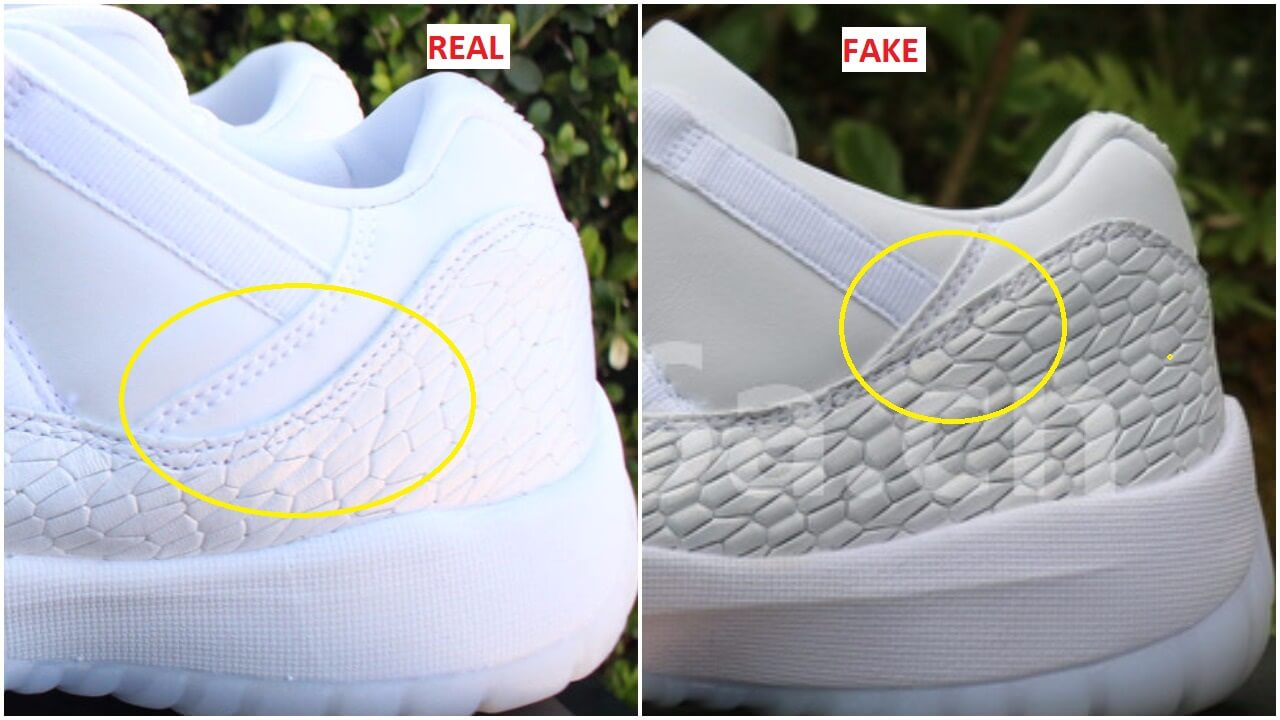 3c2d3df55cb Quick Tips To Identify The Fake Air Jordan 11 Low GS Heiress Frost White