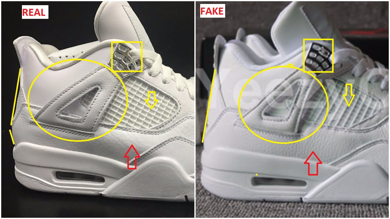 quick tips to bust the fake air jordan 4 pure money arch usa. Black Bedroom Furniture Sets. Home Design Ideas