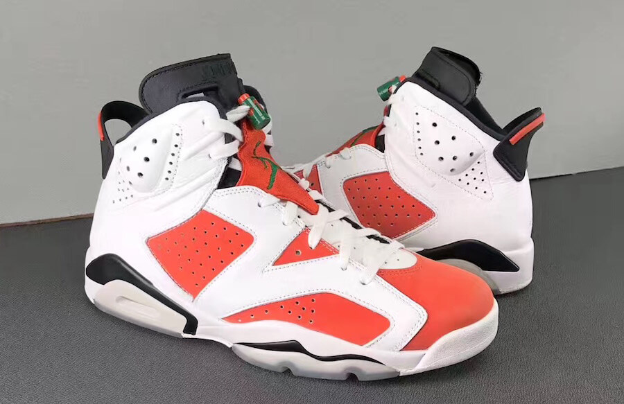 a98a1993dae Air Jordan 6 Gatorade. Summit White Black-Team Orange. Style  384664 145