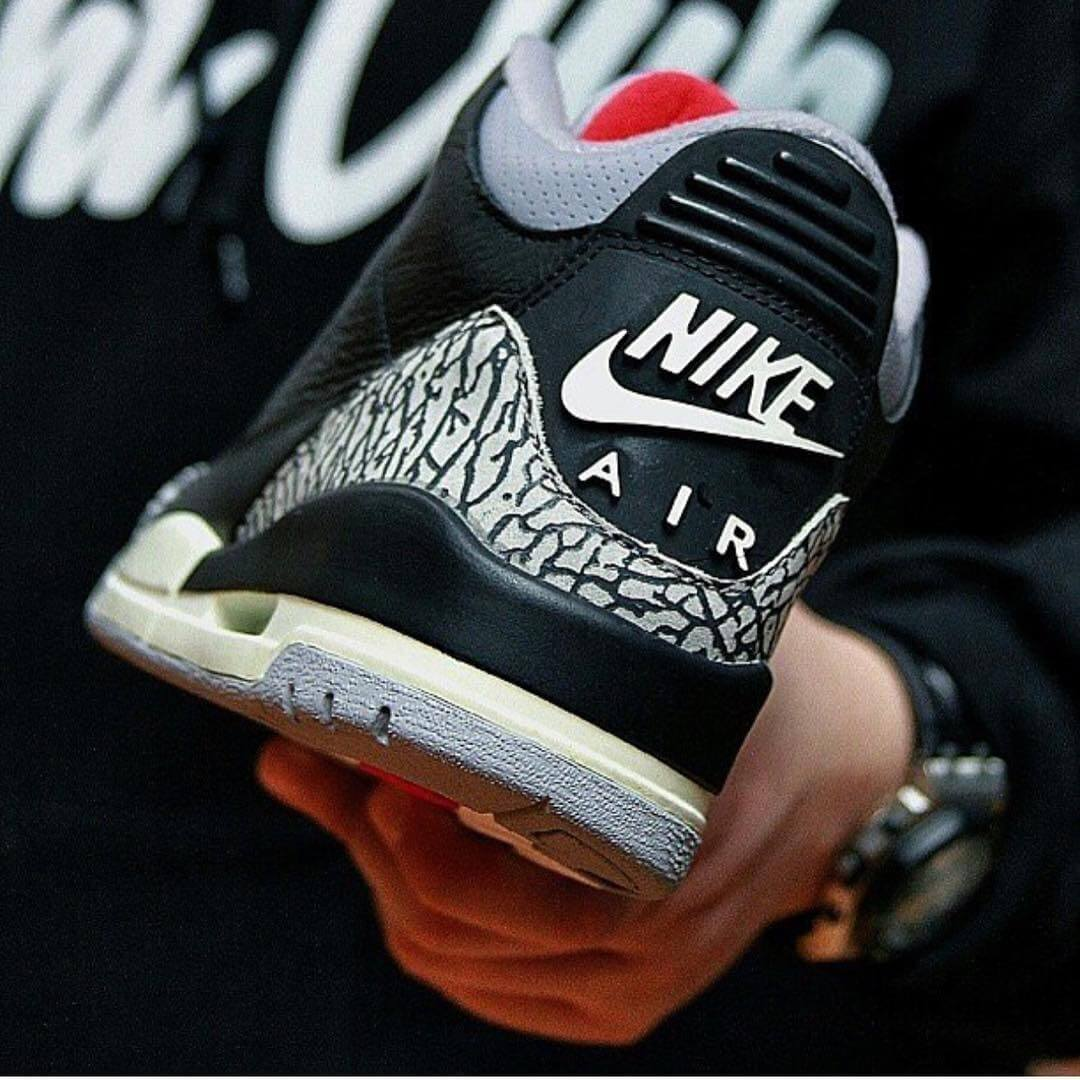 62860b5fc3be84 The 2018 Air Jordan 3 Black Cement Price Was Reduced To  200