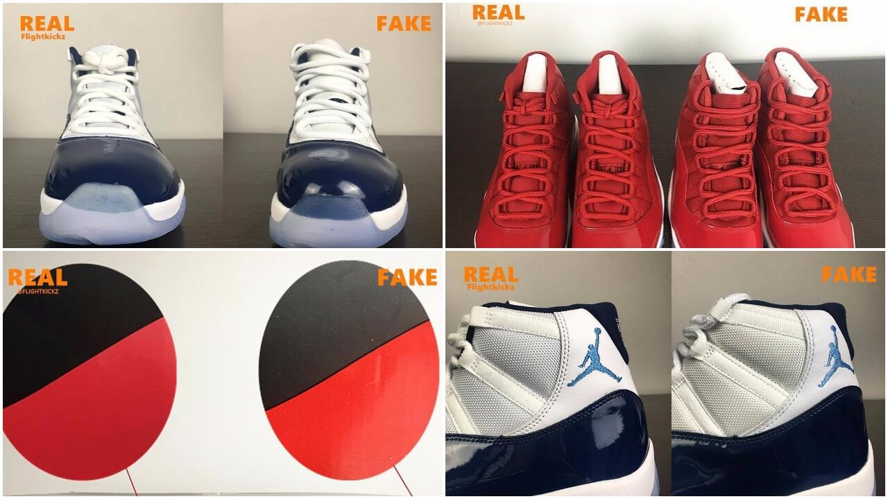 sneakers for cheap 816bb 4efe6 Air Jordan 11 Gym Red & Midnight Navy: Which Is Real Or Fake ...