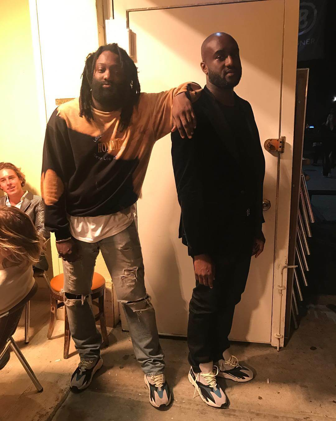 Virgin Abloh Spotted With Adidas Yeezy Wave Runner Cmon Son