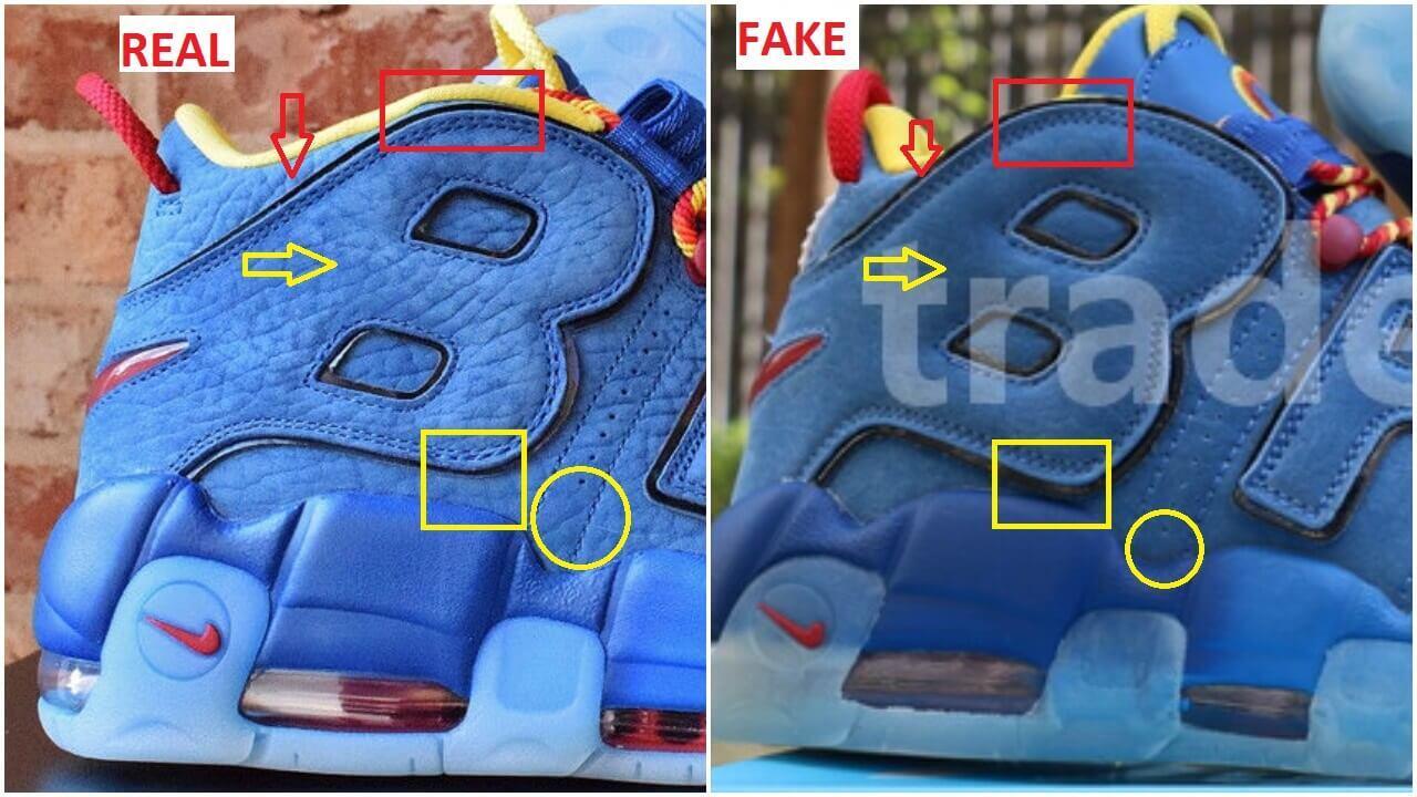 Real VS Fake Nike Air More Uptempo