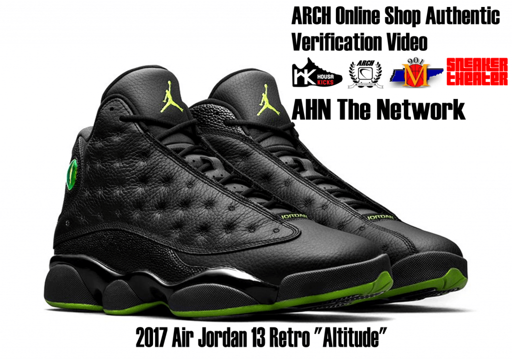 abb7c34ae48cb2 ... Air Jordan 13 Retro Black Altitude Green (2017) Authentic Verification  – ARCH- ...