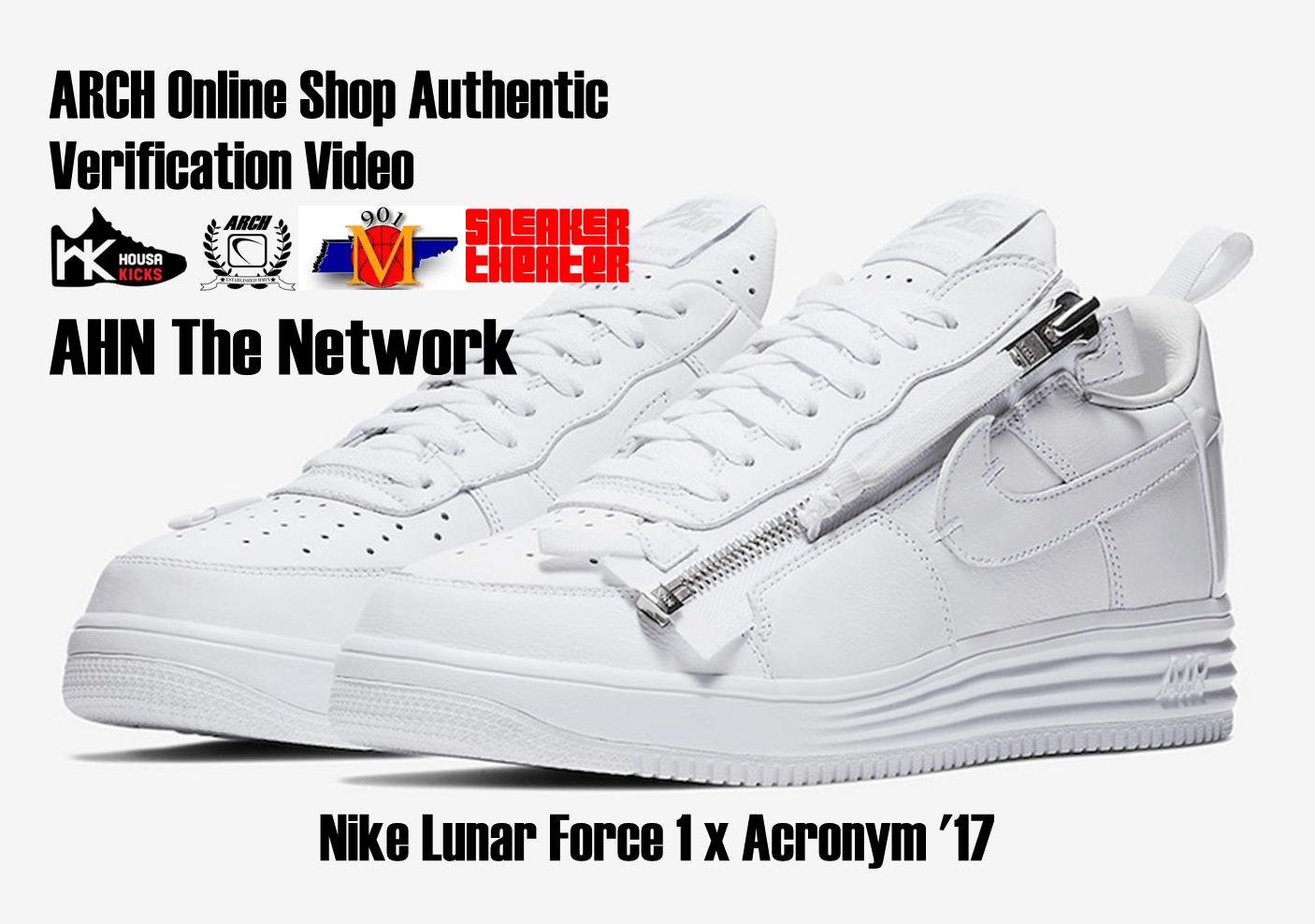 Nike Lunar Force 1 x Acronym '17 | Authentic Verification