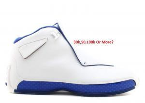 5f799ff6d7e How Limited Is The Air Jordan 18 XVIII White Royal