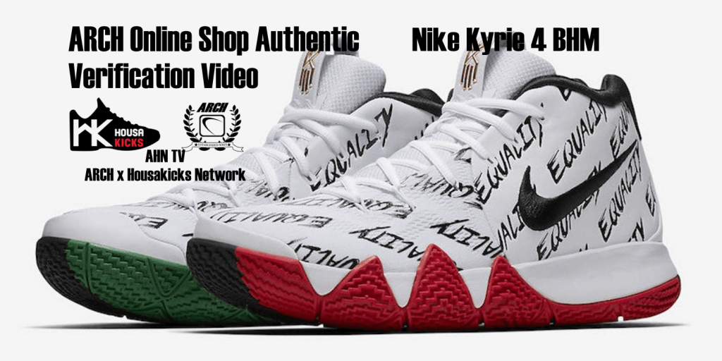 huge selection of e8767 94cfe Nike Kyrie 4 BHM  Authentic Verification