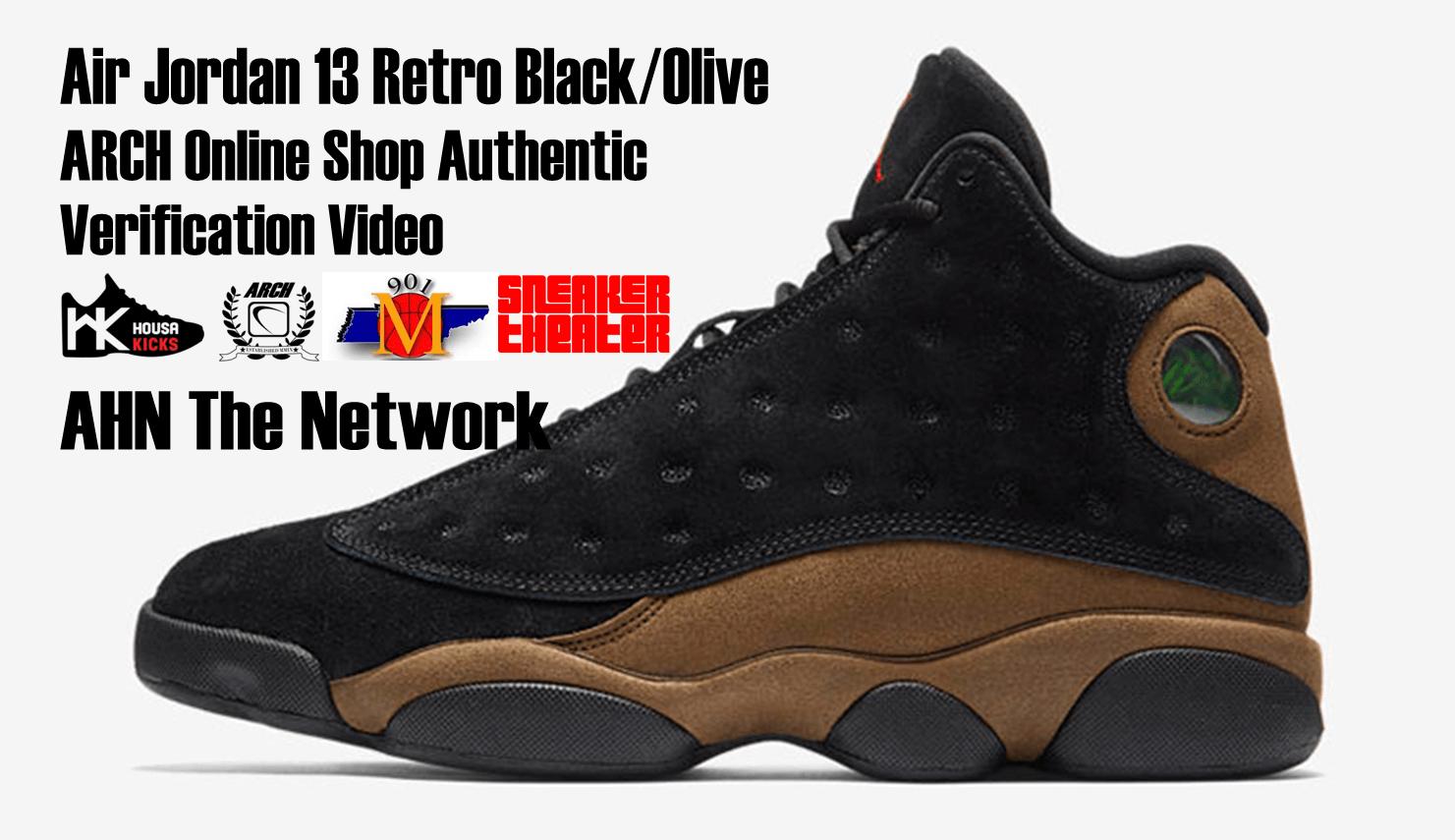 quality design 3c9e8 aeca6 Air Jordan 13 Retro Black Olive   Authentic Verification – ARCH-USA