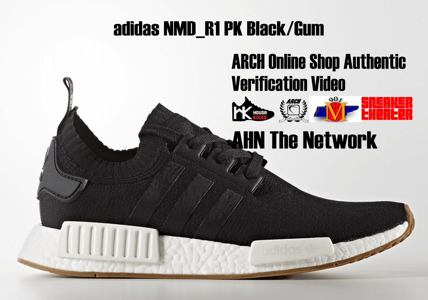 finest selection 3137f b9609 adidas NMD R1 PK BlackGum  Authentic Verification – ARCH-USA