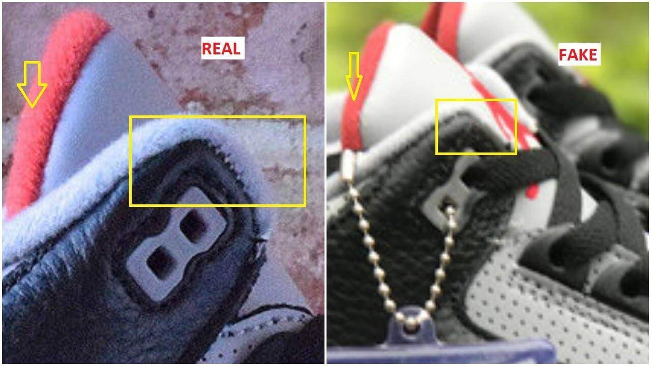 on sale 1673f 1f2f2 Real VS Fake Air Jordan 3 Black Cement – ARCH-USA