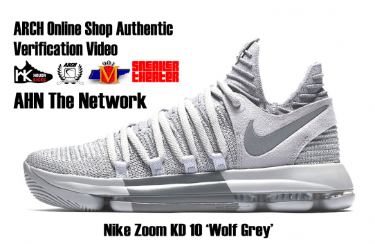 Nike Zoom KD 10 (Wolf Grey/Cool Grey) | Authentic Verification