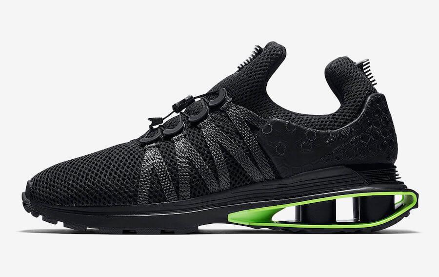 b16658c9206de9 Nike Shox Gravity Luxe  Black Green Strike  – ARCH-USA