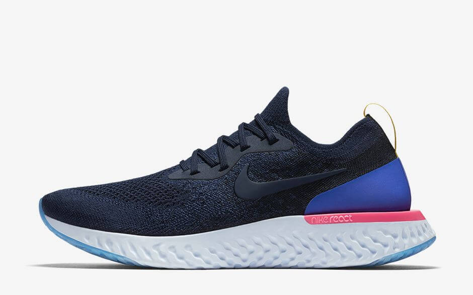 Nike Epic React Flyknit College Navy Authentic Verification Arch Usa