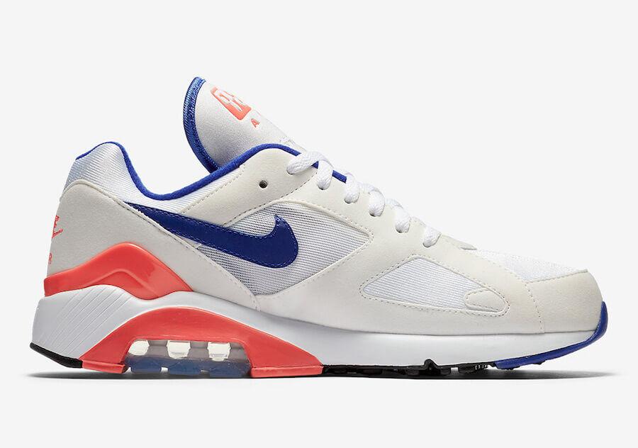 premium selection 3e092 fea28 Nike Air Max 180 WhiteUltramarine-Solar Red  Authentic Verification