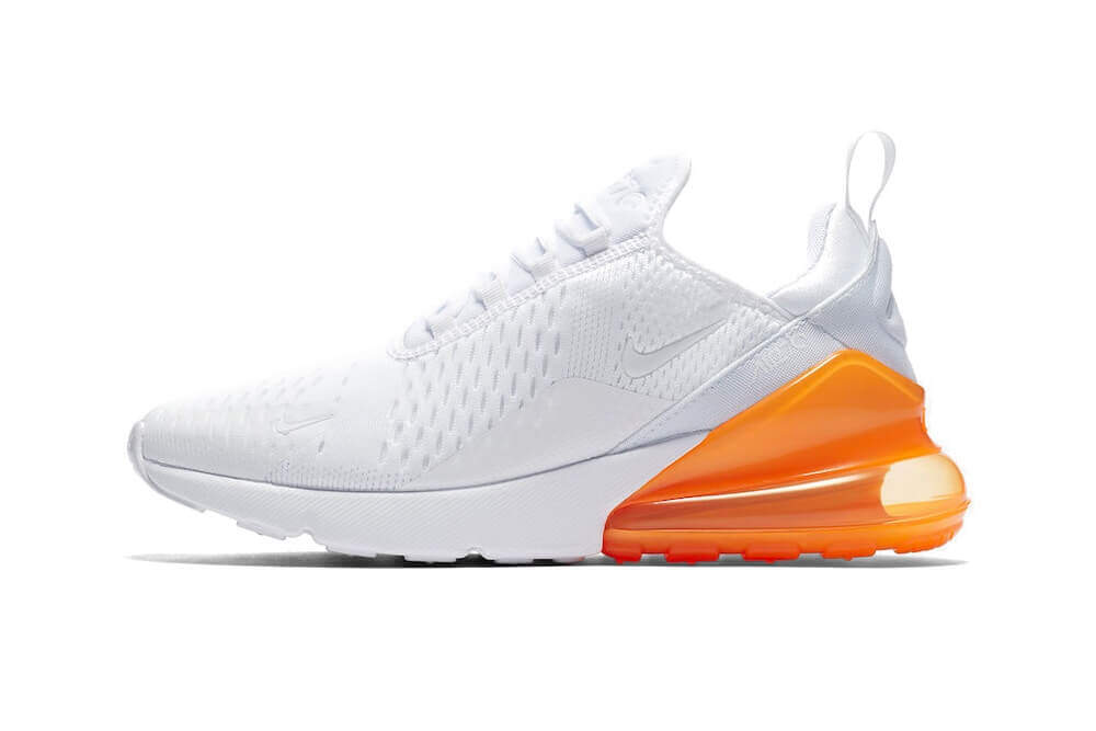 eefe6b2c931 Nike Air Max 270 (White Pack) White Total Orange