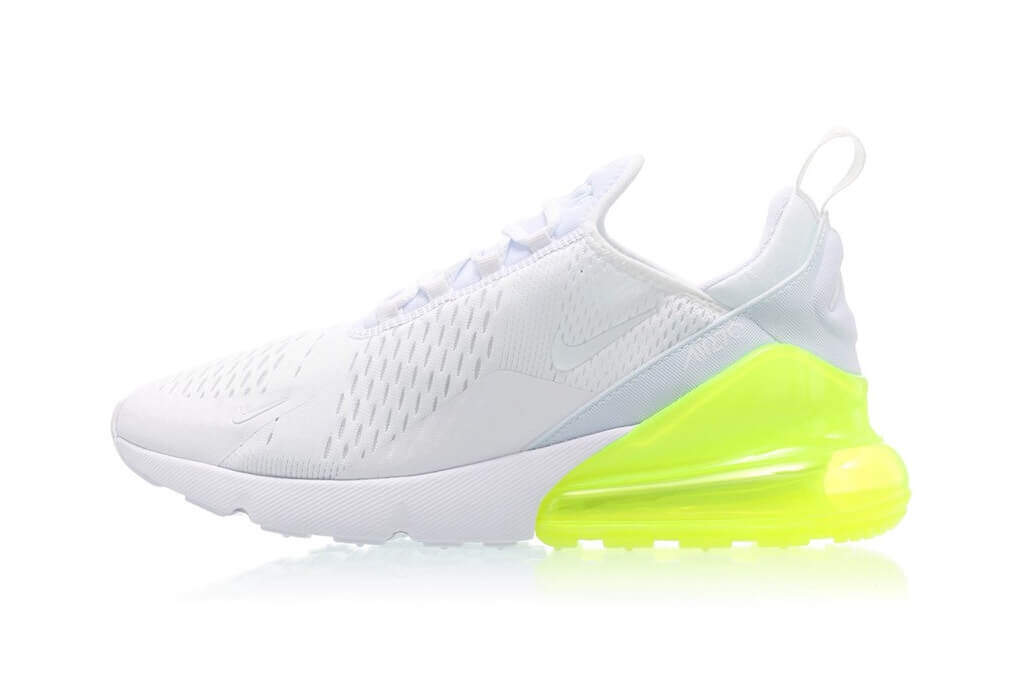 Nike Air Max 270 (White Pack) WhiteWhite Volt | Authentic