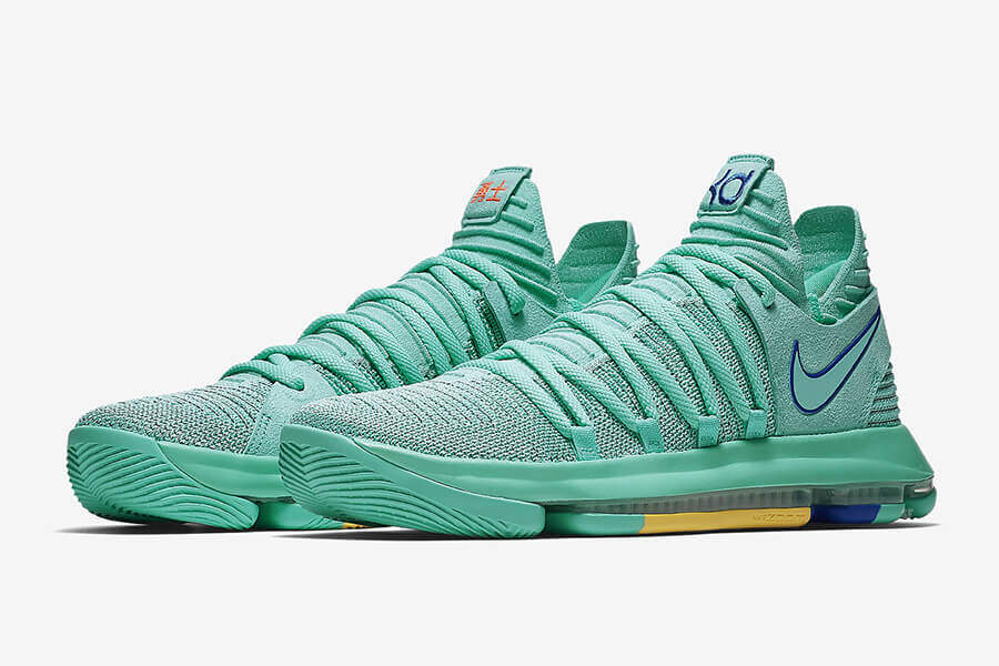 48ed2ec52123 Nike Zoom KD 10  City Edition-Hyper Turquoise