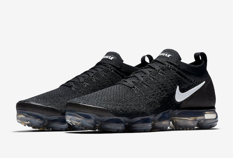 temperament shoes huge selection of good selling Nike Air Vapormax Flyknit 2 Black/White Authentic ...