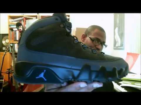 30dda711b869 Air Jordan 9 Retro Boot NRG Black Black-Concord AR4491-001 ...