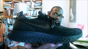 half off f907b 69c8c Nike Epic React Flyknit Triple Black AQ0067-003   Authentic Verification