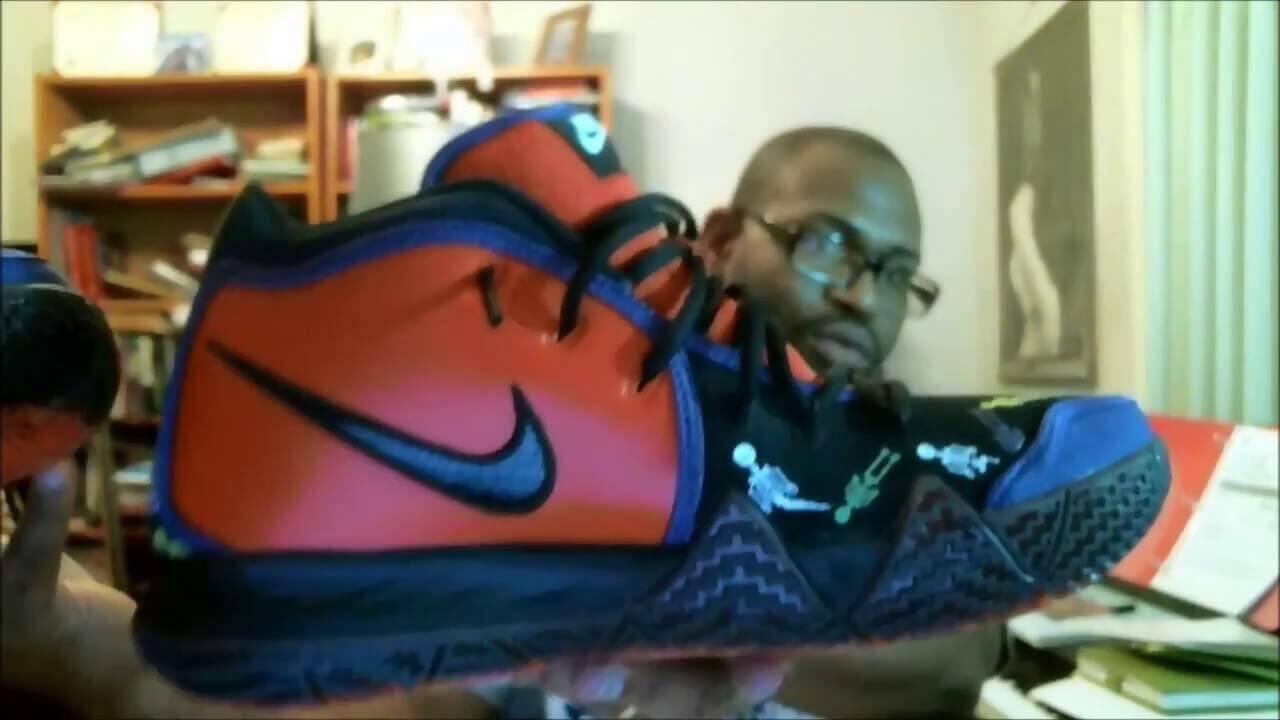 41ef1db44d8 Nike Kyrie 4 DOTD TV PE 1 Team Orange Black-Multicolor CI0278-800 ...